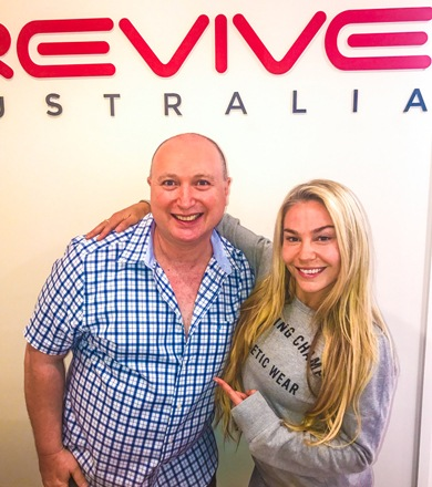Igor Mirkin with a female client at Revive Bondi Junction